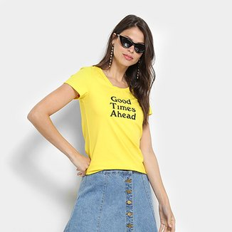 Camiseta Top Modas Good Times Ahead Feminina
