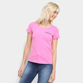 Camiseta Top Modas Weekend Feminina