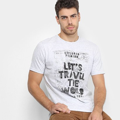 Camiseta TREEBO Let's Travel Masculina