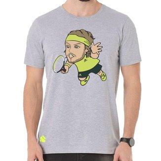 Camiseta TsiTsipas Mescla Cinza - Casa Do Tenista