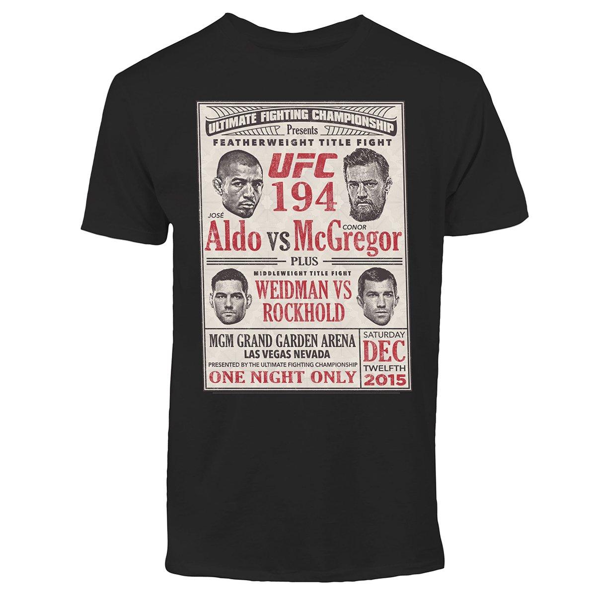 6a51c8a567 Camiseta UFC Ticket Poster - Aldo vs McGregor - Compre Agora