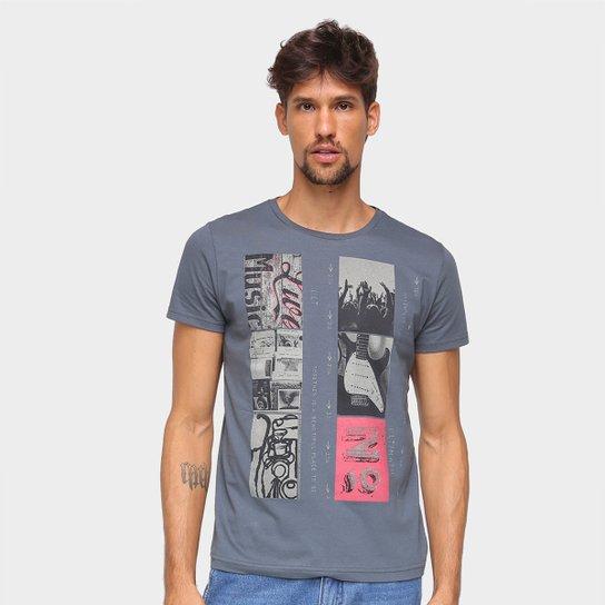 Camiseta Ultimato Estampada Manga Curta Masculina - Chumbo