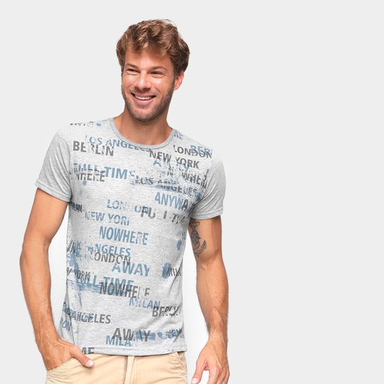 Camiseta Ultimato Estampada Masculina - Mescla