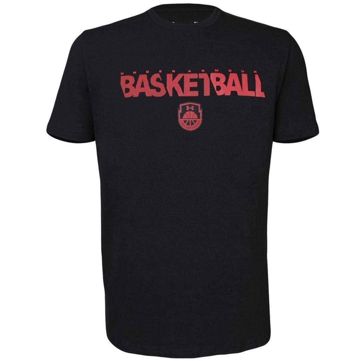 Camiseta Under Armour Basketball Wordmark Masculina - Preto - Compre ... 6c6c34f9ec83a