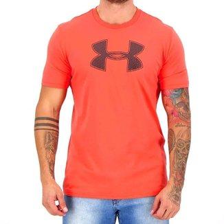 Camiseta Under Armour Big Logo Ss Coral Masculino