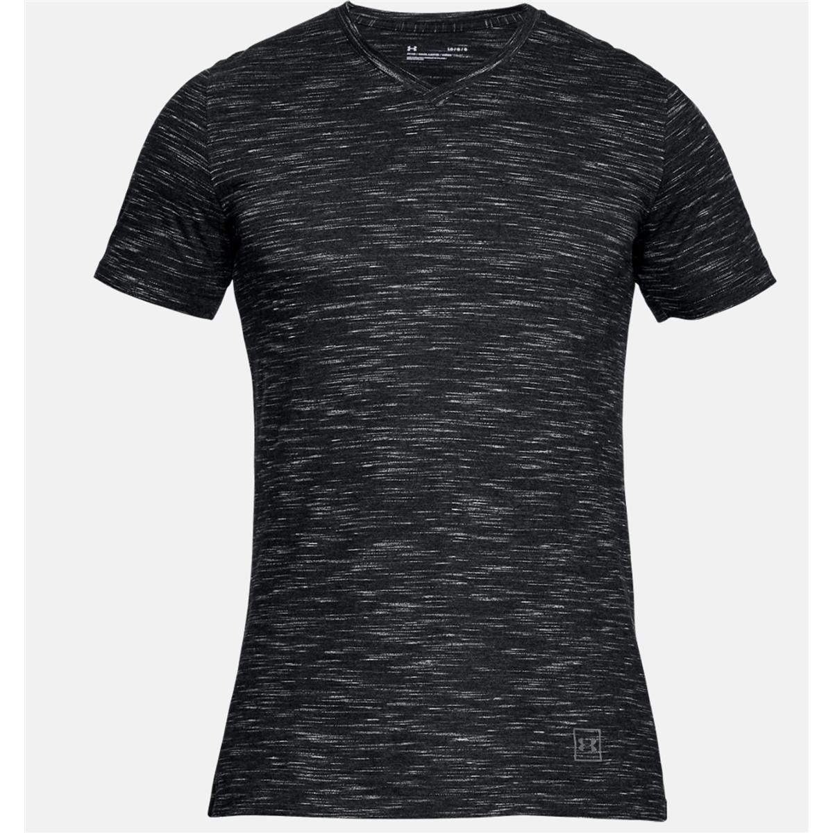 85e4f47fa8b76 Camiseta Under Armour Gola V Sportstyle Core Neck - Preto e Cinza - Compre  Agora