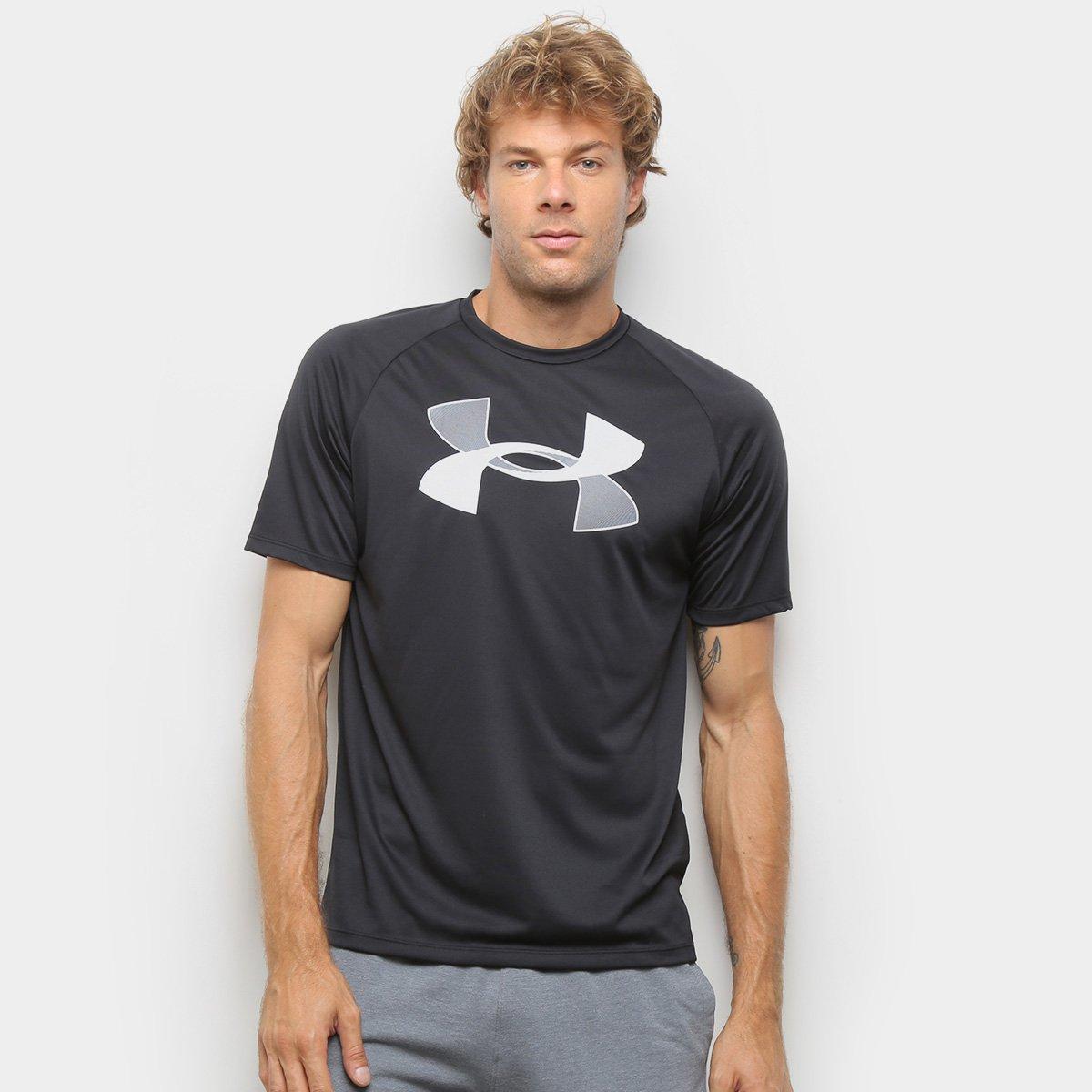 No es suficiente A pie fiesta  Camiseta Under Armour Graphic Masculina - Preto e Cinza | Netshoes