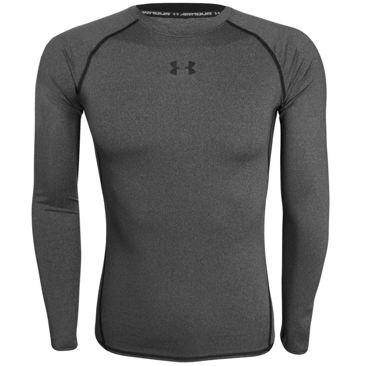 7a961535818 Camiseta Under Armour Long Sleeve Compressão - Cinza - Compre Agora ...