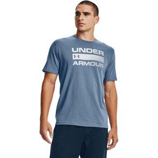 Camiseta Under Armour Team Issue Wordmark Masculina - Azul - G