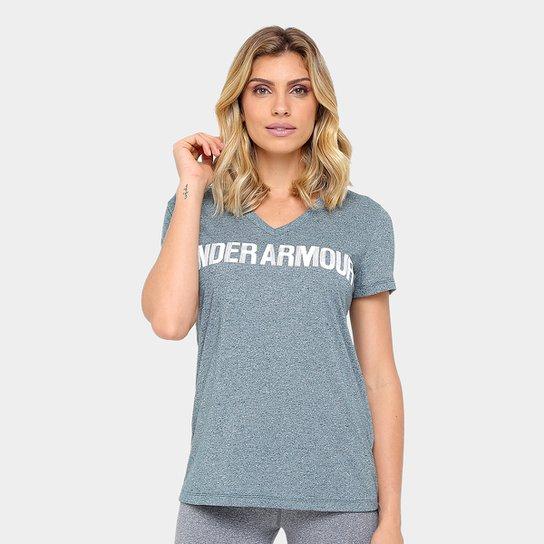 Camiseta Under Armour Threadborne Graphic Feminina - Mescla