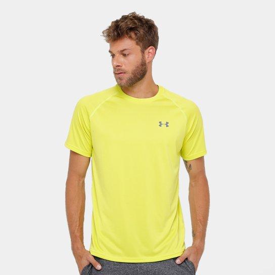 Camiseta Under Armour UA Tech SS Masculina - Amarelo+Grafite