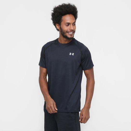 Camiseta Under Armour UA Tech SS Masculina - Preto+Branco