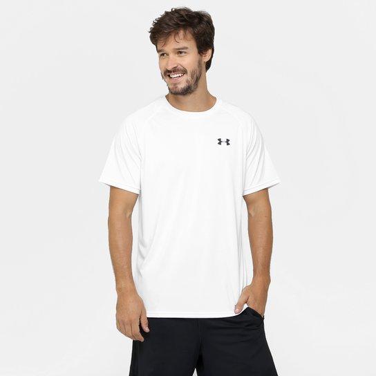 Camiseta Under Armour UA Tech SS Masculina - Branco+Preto