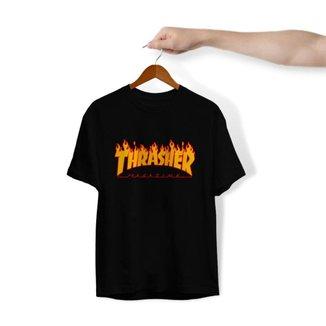 Camiseta Unissex Algodão 30.1 Personalizado Estampa Trasher Magazine