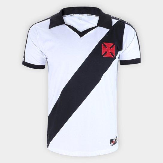 Camiseta Vasco Da Gama Retro Mania 1988 Masculina - Branco+Preto