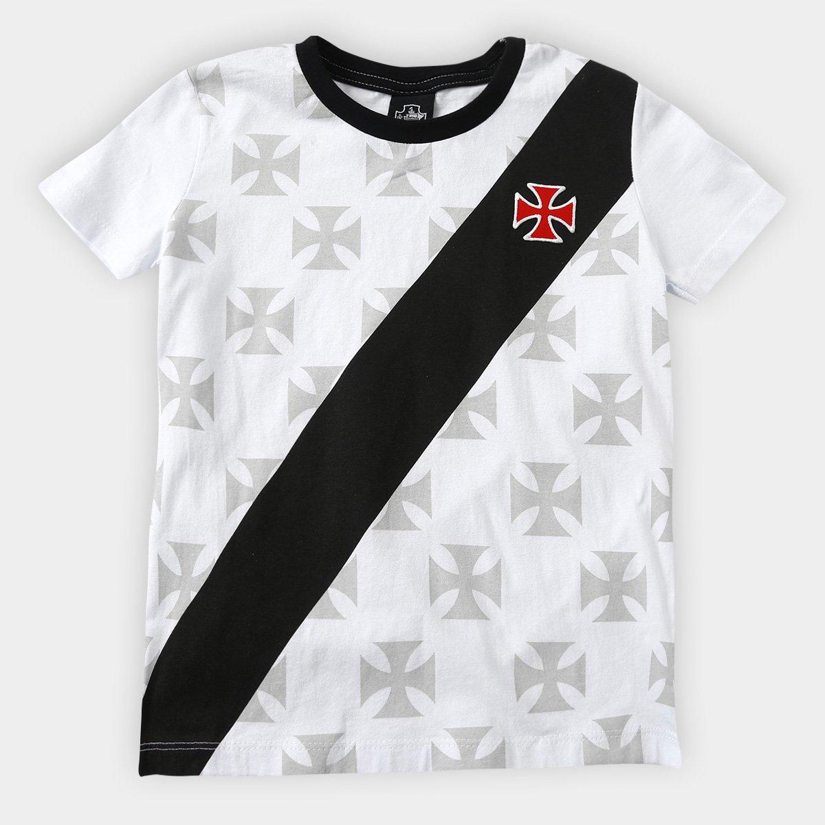 7552b0a2422dd Camiseta Vasco Infantil 1995 - Branco - Compre Agora