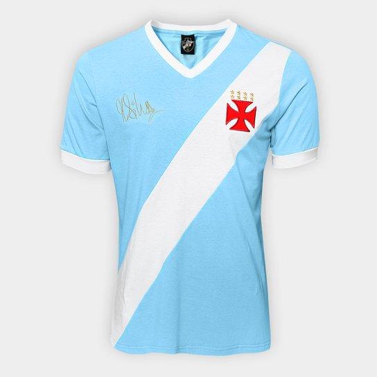 Camiseta Vasco nº 1 Martin Silva Masculina - Azul Claro+Branco
