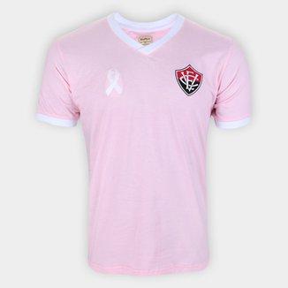 Camiseta Vitória Retrô Mania Outubro Rosa Masculina