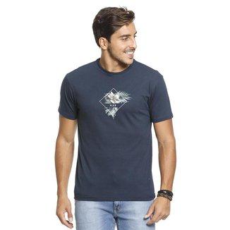 Camiseta VLCS SlimFit Gola Redonda Azul