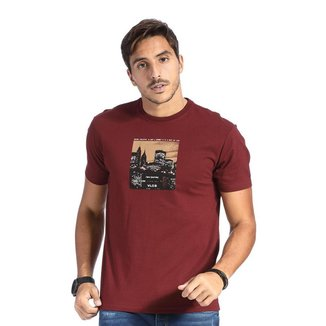 Camiseta VLCS SlimFit Gola Redonda Bordo