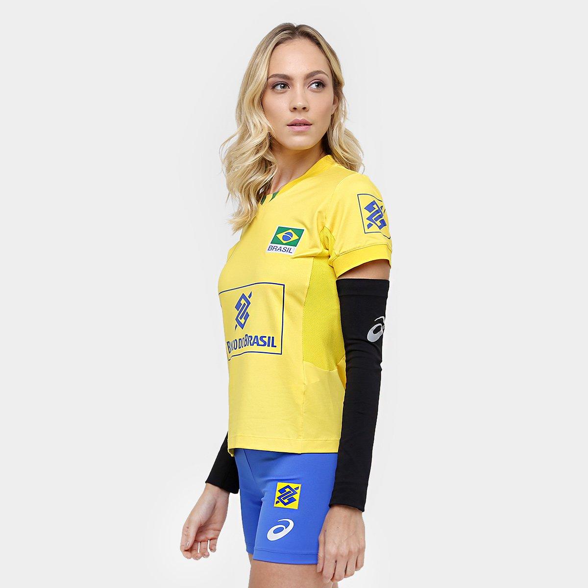 Camiseta Amarelo Jogo Oficial Asics Vôlei CBV Camiseta Vôlei Asics gnO7f5q6x