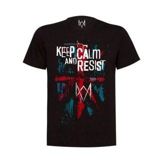 Camiseta Watch Dogs Keep Calm And Resist Masculina