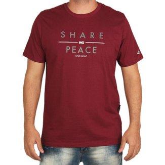 Camiseta Wg Estampada Share Peace Wg