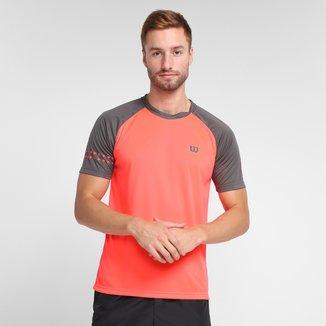 Camiseta Wilson Court Neon Masculina