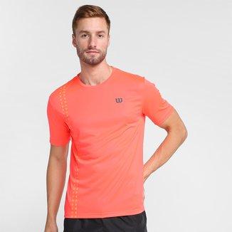 Camiseta Wilson Slice Neon Masculina