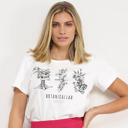 Camisetas Colcci BotanicaLLab Feminina