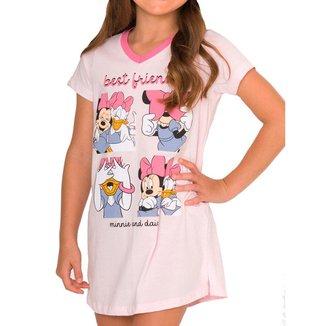 Camisola Infantil Menina Curta Minnie Mouse 55.03.0007 Rosa