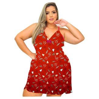 Camisola Plus Size 1uplingerie Sem Bojo Estampada Tamanho G3