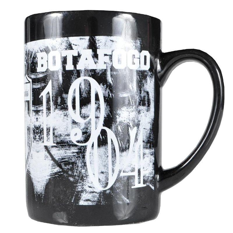Caneca Botafogo Cerâmica 680ml Preta - Preto - Compre Agora  0fc6354686f