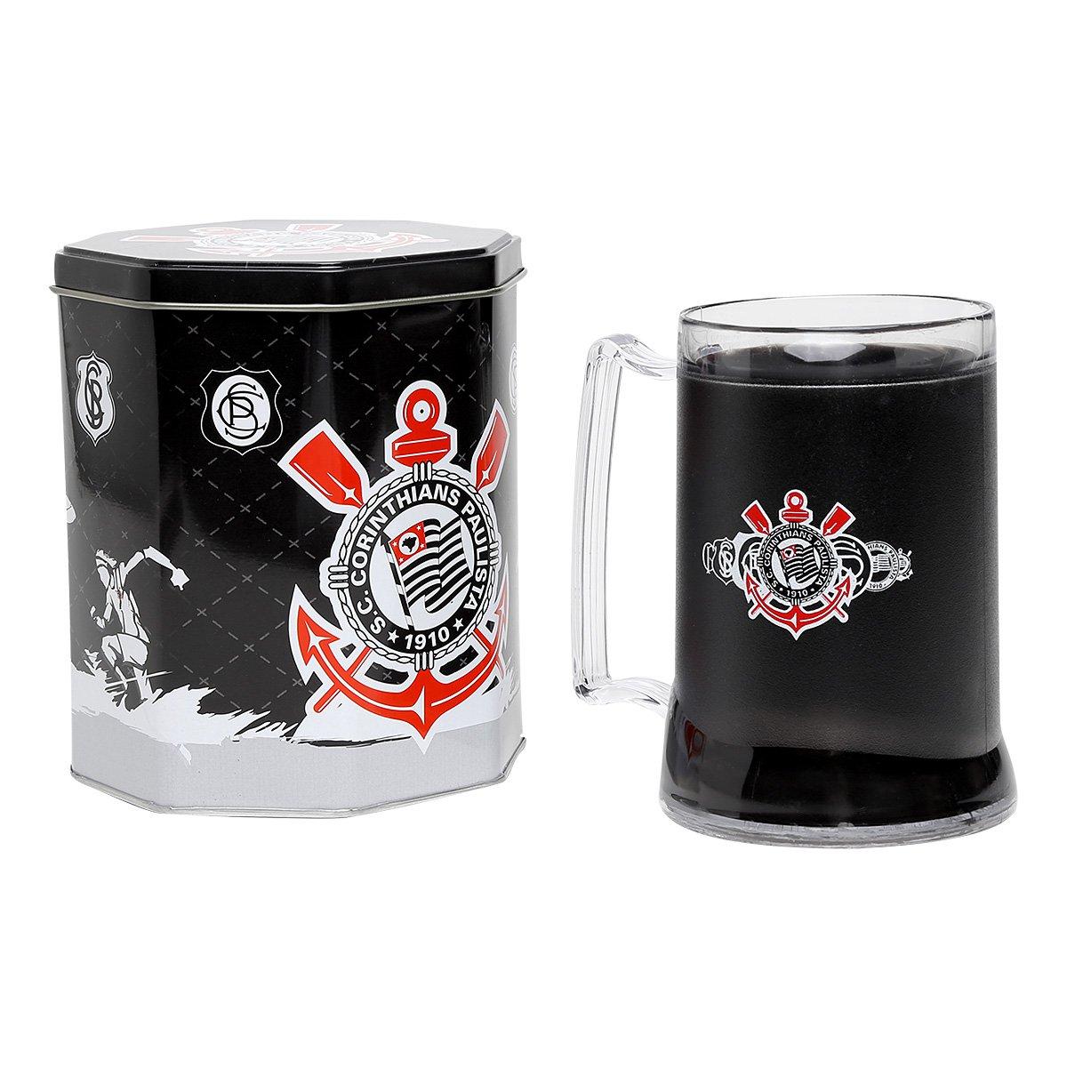 Caneca Corinthians Gel Lata Octogonal 400 ml - Compre Agora  8d5d5fe9f2ff8