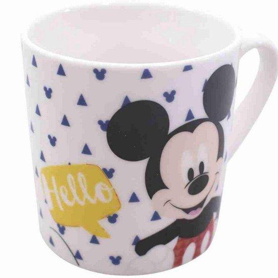 Caneca De Porcelana Mickey Hello 250ml - Disney - Branco