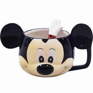 Caneca De Porcelana Rosto Mickey 280ml - Disney