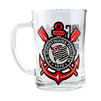 Caneca De Vidro Gigante 650ml - Corinthians