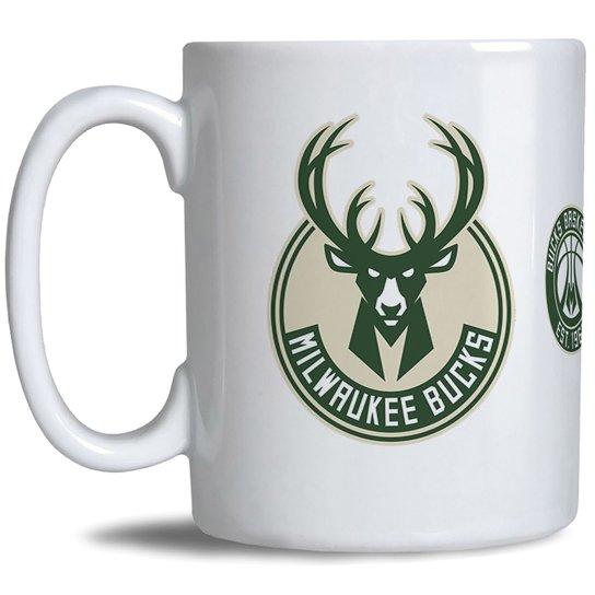 Caneca NBA Milwaukee Bucks - Branco