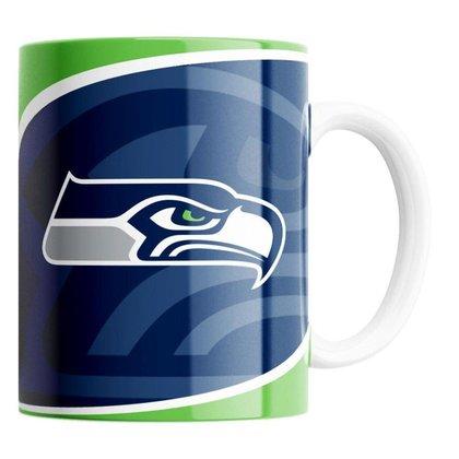 Caneca NFL Seattle Seahawks de Porcelana 325ml