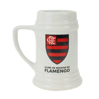 Caneca Porcelana Branca 500ml - Flamengo