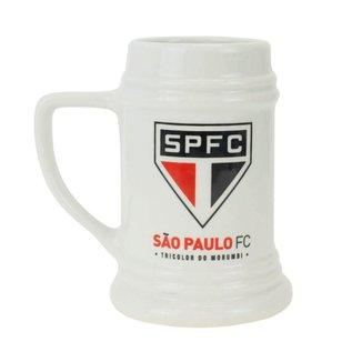 Caneca Porcelana Branca 500ml - São Paulo SPFC