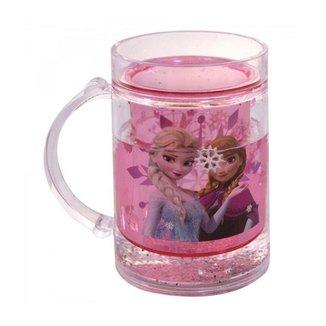 Caneca Rosa Líquido Anna e Elsa Frozen 250ml - Disney