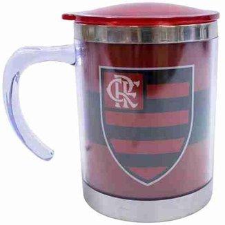 Caneca Térmica Com Tampa 450ml - Flamengo