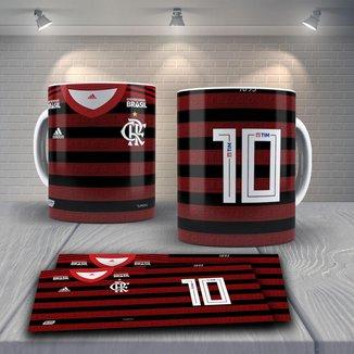 Caneca Time de Futebol Flamengo Mod 24