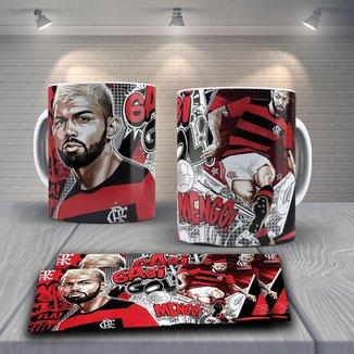Caneca Time de Futebol Flamengo Mod 32