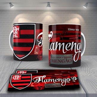 Caneca Time de Futebol Flamengo Mod 40