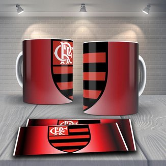 Caneca Time de Futebol Flamengo Mod 41