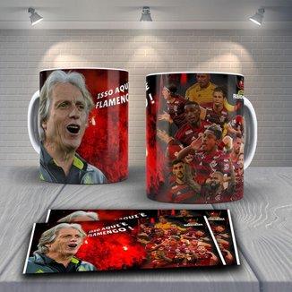 Caneca Time de Futebol Flamengo Mod 43