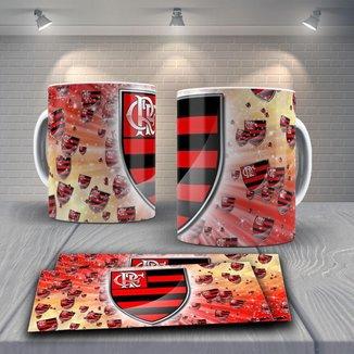 Caneca Time de Futebol Flamengo Mod 7
