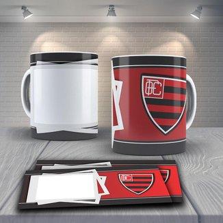 Caneca Time de Futebol Flamengo Mod 9